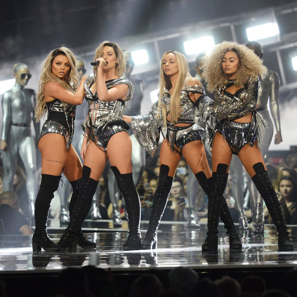 Little Mix Wearing Blond Wigs at the 2017 Brit Awards
