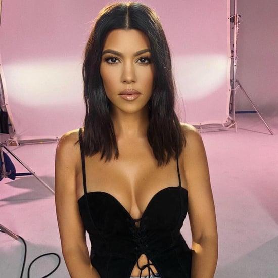 Kourtney Kardashian's Black Lace-Up Top