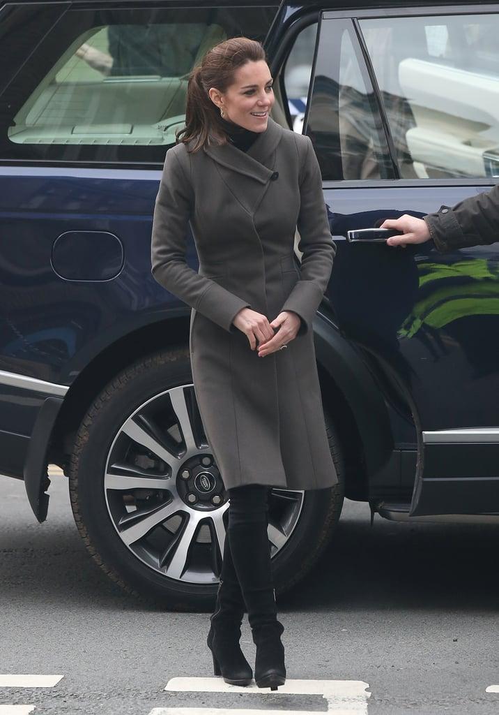 The Duchess of Cambridge in Reiss Angel Coat November 2015
