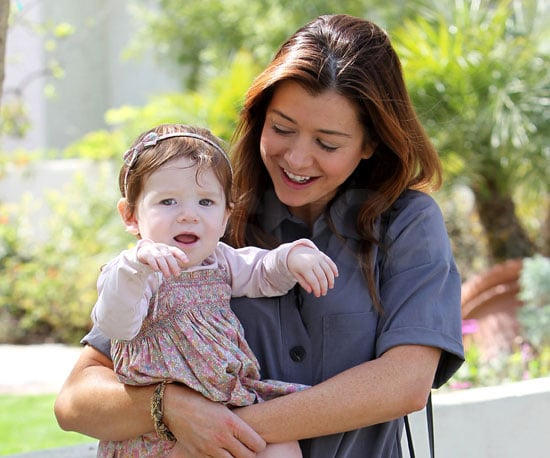 Slide Photo of Alyson Hannigan and Daughter Satyana Denisof Celebrating Their Birthdays