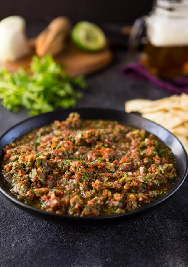 Tomato Ancho Chile Salsa