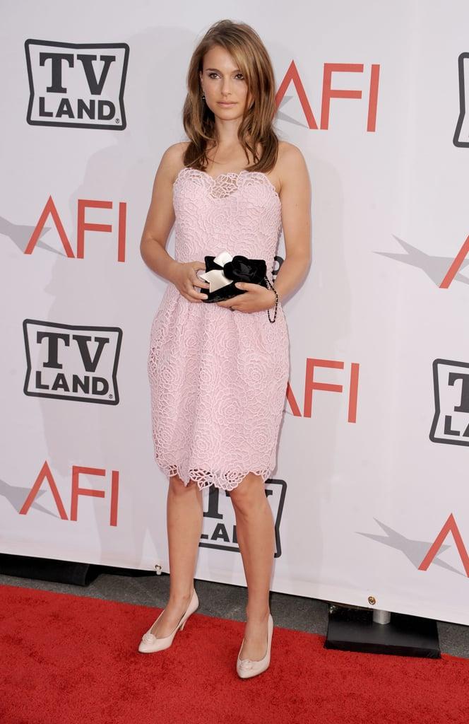Natalie Portman in Light Pink Dress at the 2011 Life Achievement Awards