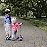 Ride scooters.
