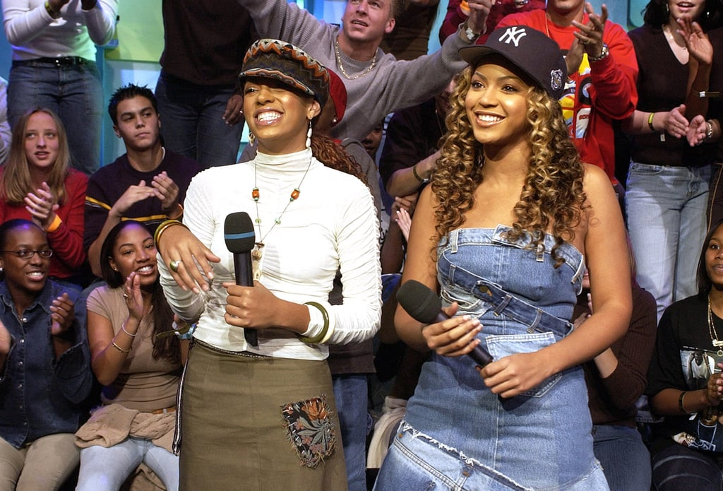 Beyoncé and her sister, Solange, paired up for an episode of TRL in 2002.