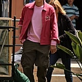 Photos of Ashton Kutcher Filming Valentine's Day