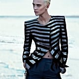 Strong shoulders and tailored trousers are Giorgio Armani standout features in its Spring '12 collection. Source: Fashion Gone Rogue