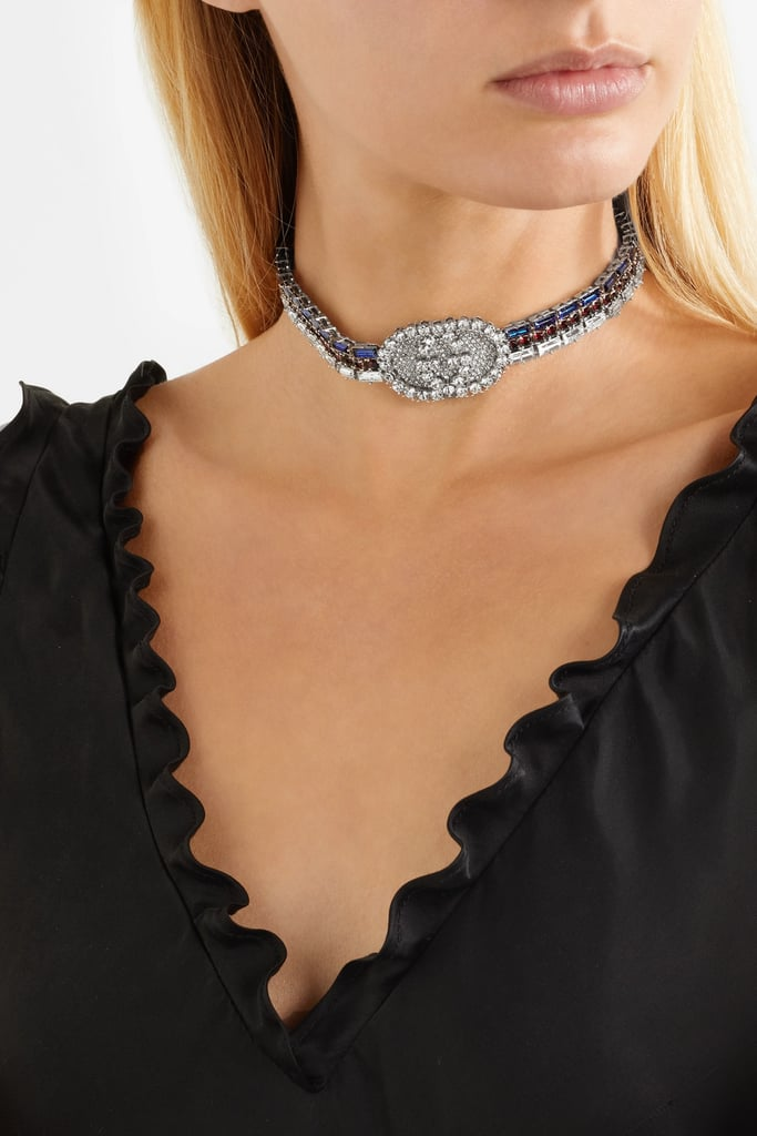 Gucci Silver-plated crystal choker