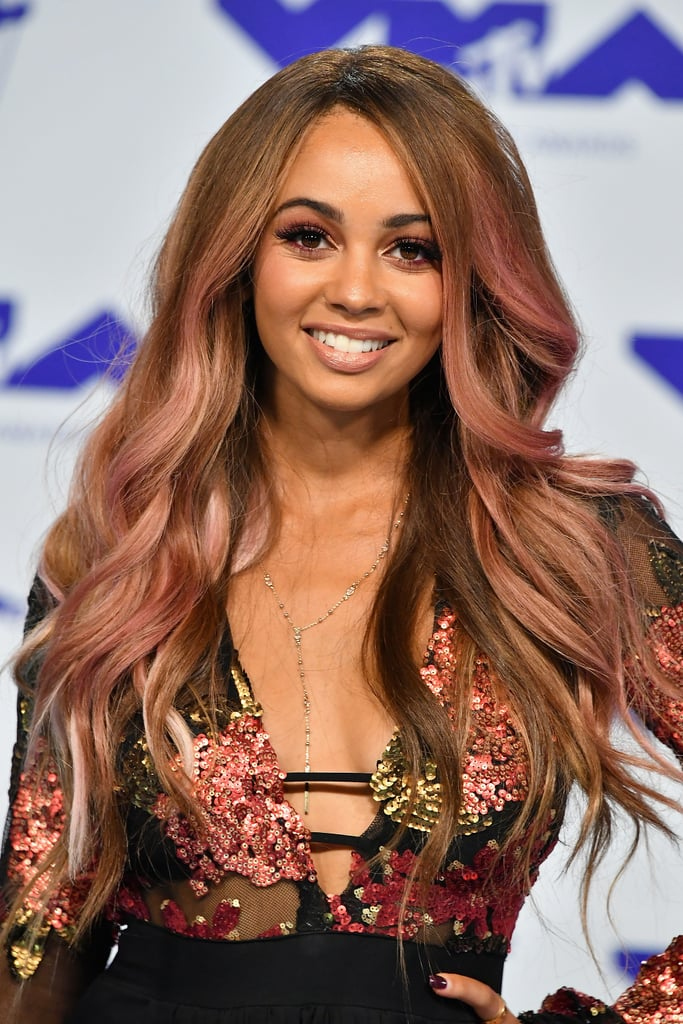 Vanessa Morgan's Rose Gold Hair in 2017