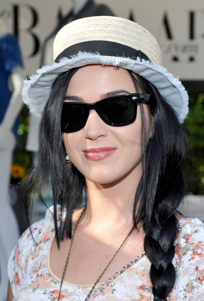 Katy Perry's braid-and-hat combo is the perfect duo for your Summer festival circuit.