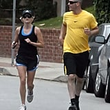 Jim Toth and Reese Witherspoon went for a jog around LA together in Sept. 2011.
