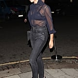 Victoria Beckham Sheer Top December 2018