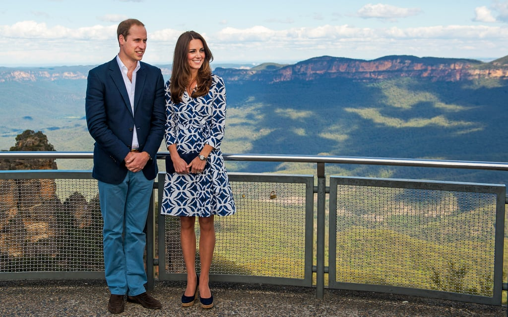 And William's Separates Polished Off Kate's Printed Wrap Dress