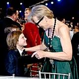 Cameron Crovetti and Meryl Streep at the 2020 SAG Awards