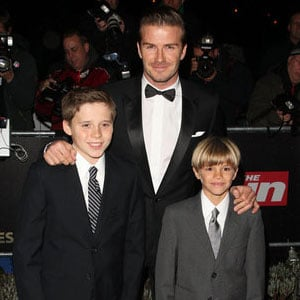 David Beckham and Sons at Military Awards Pictures