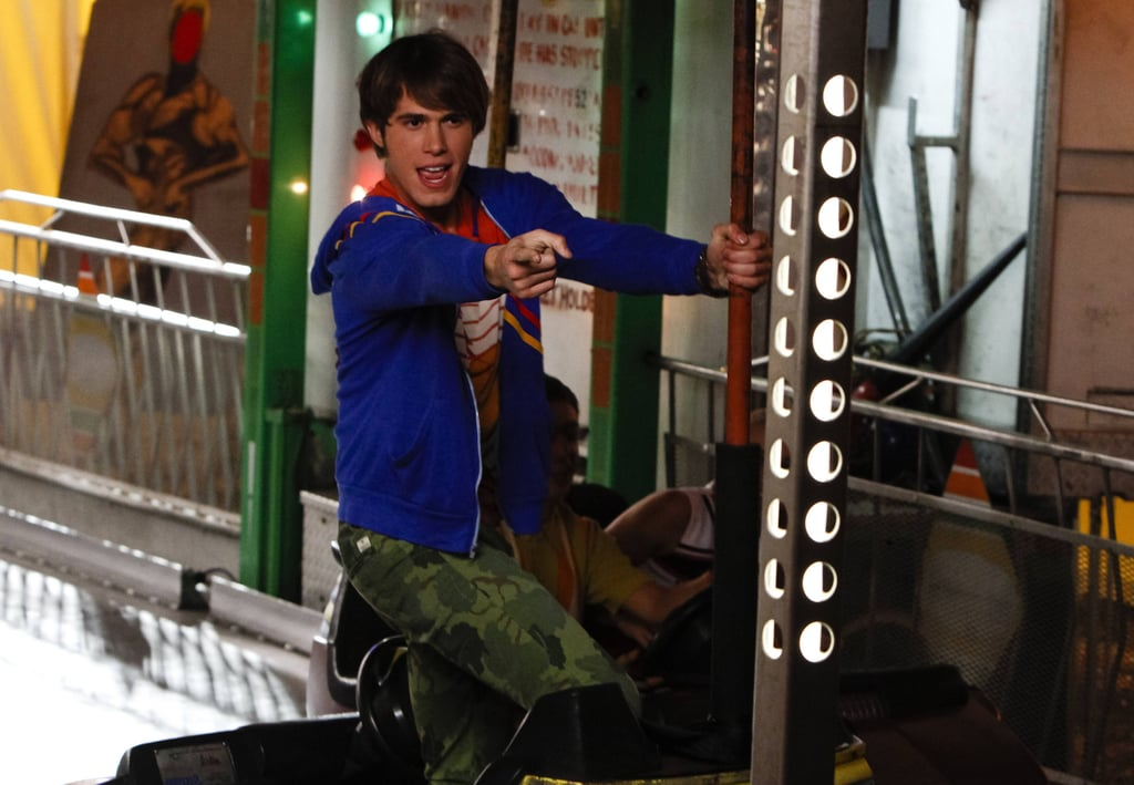 Glee Ryder (Blake Jenner) performs at a carnival on Glee's season premiere, airing Sept. 26 on Fox.