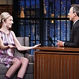 Hunter Schafer's Fringe Dress on Late Night With Seth Meyers