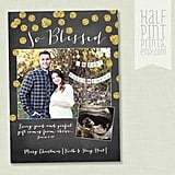 So Blessed Pregnancy Announcement Holiday Card