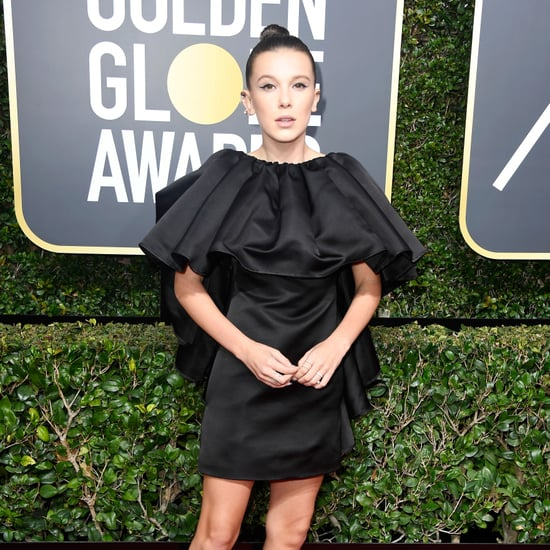 Millie Bobby Brown's Black Dress at the Golden Globes 2018