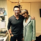 Hugh Jackman celebrated Christmas with Taylor Swift and her family, and he had a snap to show for it!