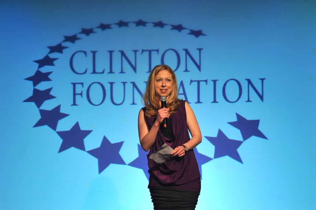 Chelsea Clinton spoke at the event.