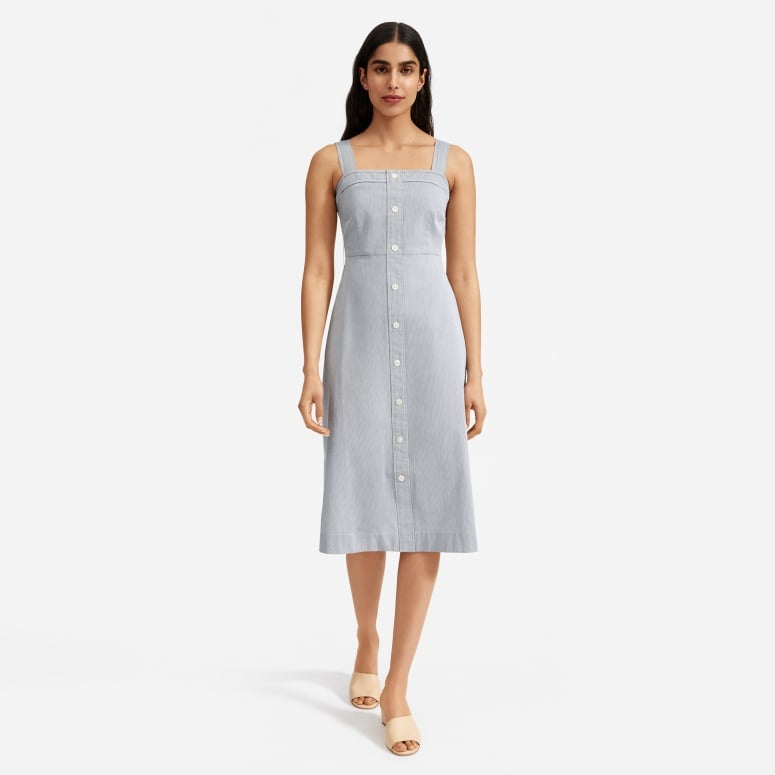 Everlane The Cotton Weave Tank Dress