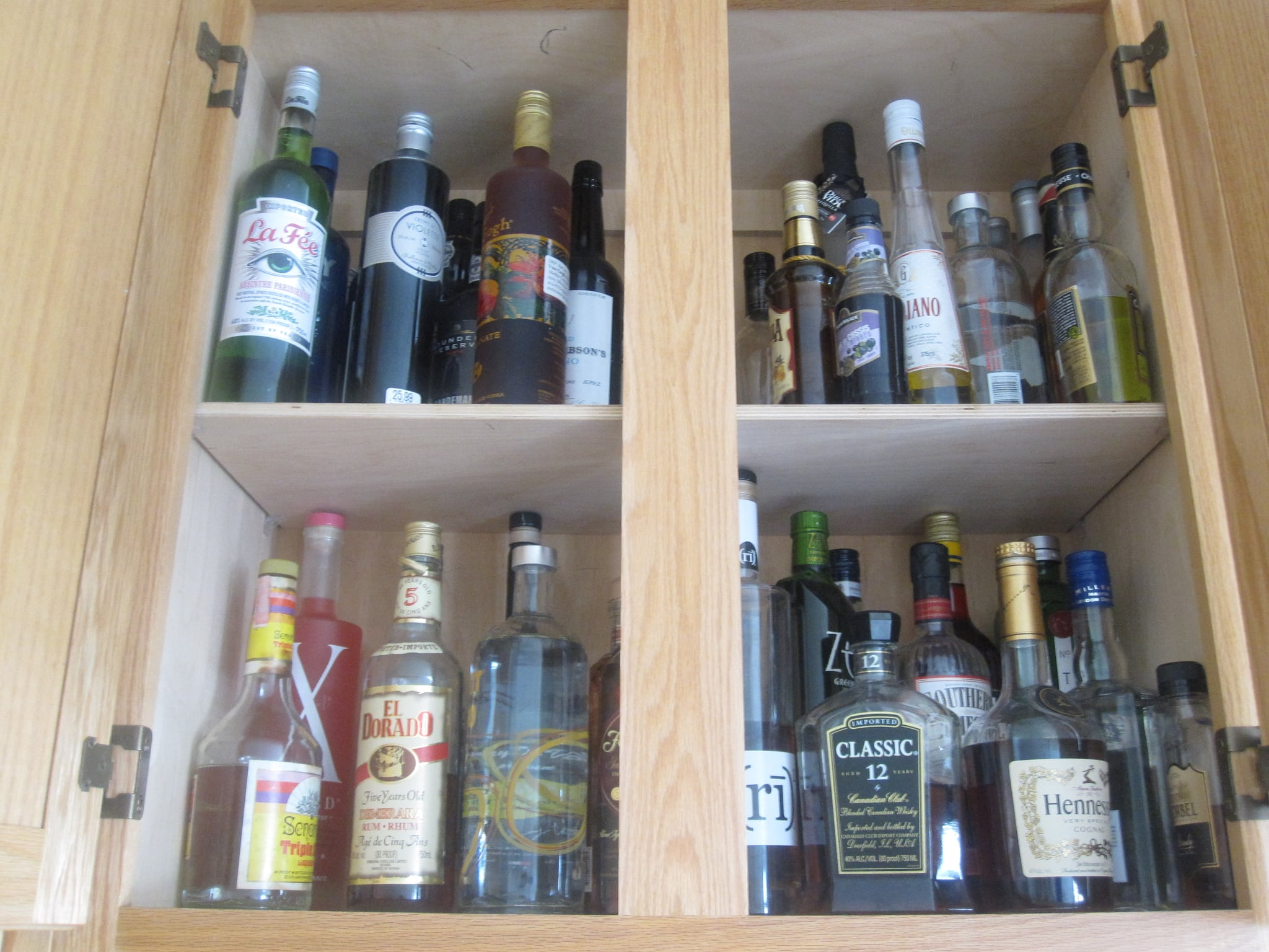 Liquor Cabinet | How to Organize Your Kitchen Cabinets