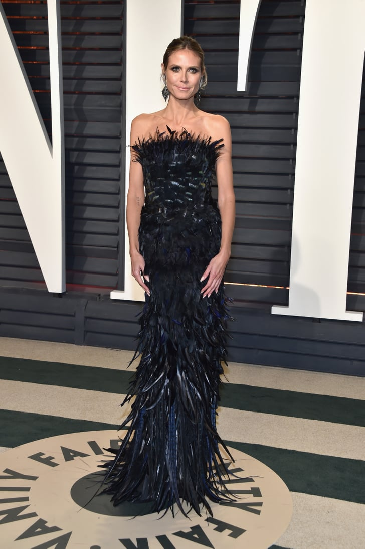 Heidi Klum Vanity Fair Oscars Party Dresses 2017