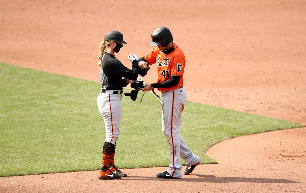 "Alyssa Nakken is the first woman to hold a coaching position on a Major League Baseball team. Nakken, who played first base at Sacramento State and joined the Giants as an intern in 2014, officially became an assistant coach in January of this year, NBC Sports reports. Nakken made history when she was hired in the offseason, but she made more history on July 20 when she became the first woman to coach on the MLB field. It was an exhibition game against the Oakland Athletics, and she coached first base. Nakken told NBC Sports of the interview process, ""I think that my energy and my hustle and my drive came out in those conversations because I obviously just personally [am] ready for something like this, and the opportunity was there. Even though I didn't know what the title was, I knew there was an opportunity to come in, make an impact for the organisation, and put blood, sweat, and tears into this to make this the best team that it can be.""      Related:                                                                                                           History Made: Katie Sowers Is the First Female and Openly LGBTQ Coach in the Super Bowl               Furthermore, Nakken said she knew she wanted to be a part of the Giants organisation and learn the baseball operations side of an MLB team. Working as the chief information officer for the University of San Francisco baseball team helped put her foot in the door to get involved with the Giants, she explained. Prior to her coaching gig with the team, ""I jumped in and helped on the business side, on the health and wellness side for our Human Resources department, and I did a lot for this organisation."" Nakken continued on to say that, sure, she's never had the title of coach before, but she and one other coach on the Giants' staff hired under new manager Gabe Kapler are the only ones who have been with the MLB team before. ""We have a lot of work to do. I'm the right person for that job. For this specific job, I'm right."" Kapler said earlier this month, according to NBC, ""We just see Alyssa as an especially effective coach, period. At this point she's so ingrained in our culture and so ingrained as a member of our coaching staff that she's just going around making players and staff members better. That's how I see it when I see her out on the field."" Opening day for MLB is Thursday, July 23. Ahead, you'll find images and footage of Nakken on and off the field, doing her thing.      Related:                                                                                                           From Football to the NBA, Here's When Major US Sports Leagues Are Planning to Return"