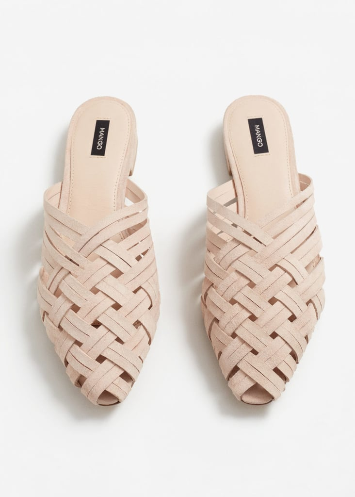 Looking for a flat that will match every Spring and Summer outfit? This Mango woven style in light beige ($70) could not be any better.