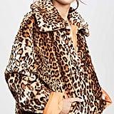 J.O.A. Leopard Half-Zip Jacket