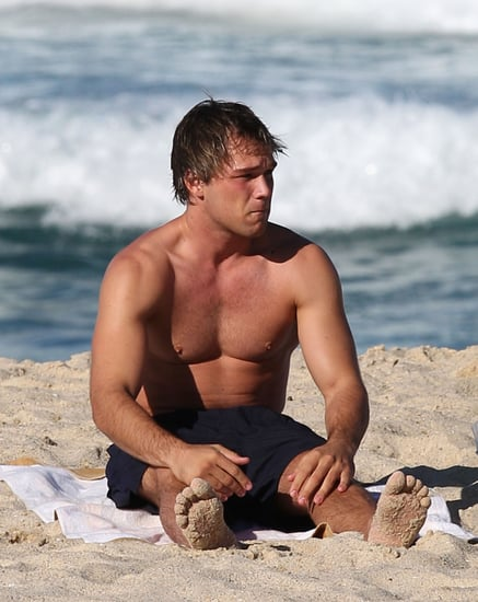 Shirtless Lincoln Lewis Sighting at Bronte Beach in Sydney