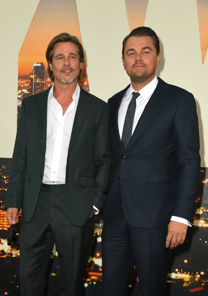 Brad Pitt and Leonard DiCaprio at the Once Upon a Time in Hollywood LA premiere.