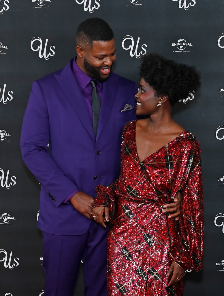 Image result for lupita nyong'o and winston duke in black panther