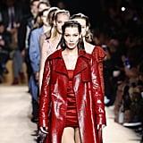 Bella Hadid Walking the Roberto Cavalli Show During Milan Fashion Week Fall/Winter 2018/19