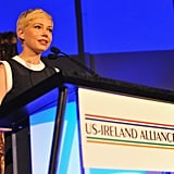 Michelle Williams accepted an award.