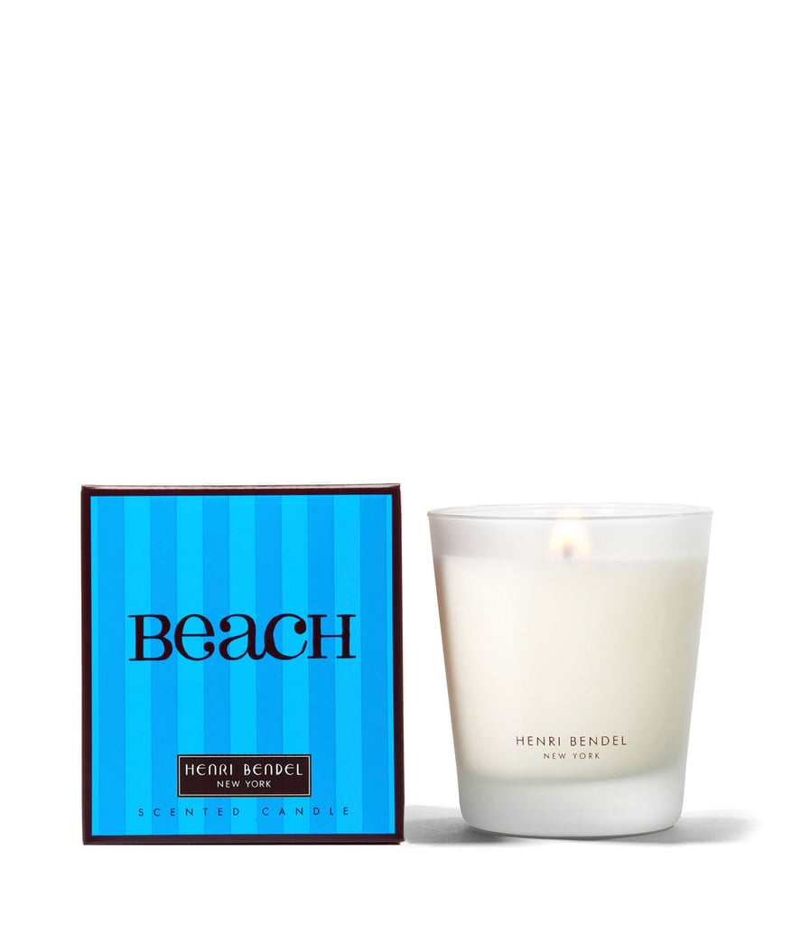 A lead-free wick and pretty glass vessel make this beach candle ($30) perfect to burn on the coffee table.