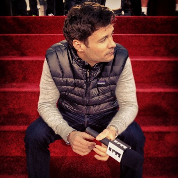 Ryan Seacrest got to the red carpet a little early. Source: Instagram user ryanseacrest