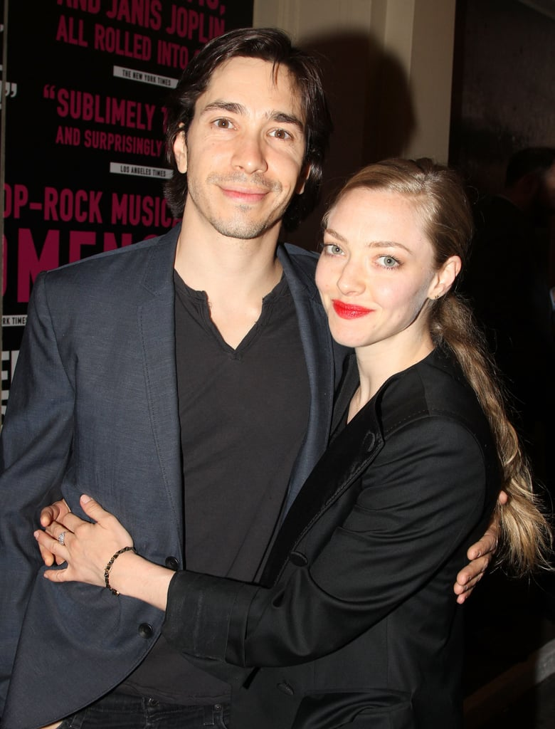 Amanda Seyfried and Justin Long have been dating since August 2013, but they didn't walk their first red carpet together until Tuesday night. At the opening of Neil Patrick Harris's Broadway production of Hedwig and the Angry Inch in NYC, the couple kept close, holding hands, hugging, and stealing glances as they headed into the show. The two are no strangers to PDA — they have been spotted walking her dog, Finn, while hand in hand and stealing kisses around the Big Apple. Both are keeping busy with a handful of projects under their belts, too. Next up, Amanda has A Million Ways to Die in the West with Neil, Seth MacFarlane, and Charlize Theron, and Justin costars with Community's Gillian Jacobs in The Lookalike.
