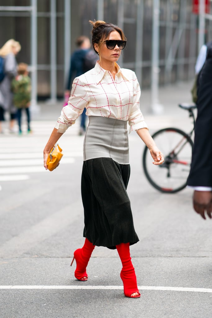 Victoria Beckham Was Spotted in the Wild in Gorgeous Red Boots