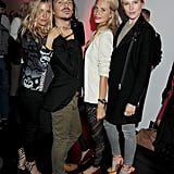 Sienna Miller, Matthew Williamson, Dree Hemingway and Cara Delevingne hanging out.