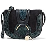 See by Chloe Hana Mini Snake Effect-trimmed Suede And Leather Shoulder Bag