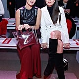 Molly Sims and Emily DiDonato at Staud Fall 2019