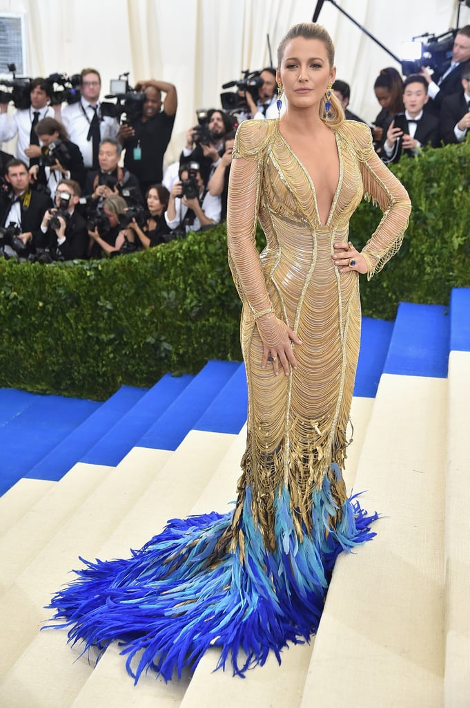 Blake Lively in Atelier Versace as . . .