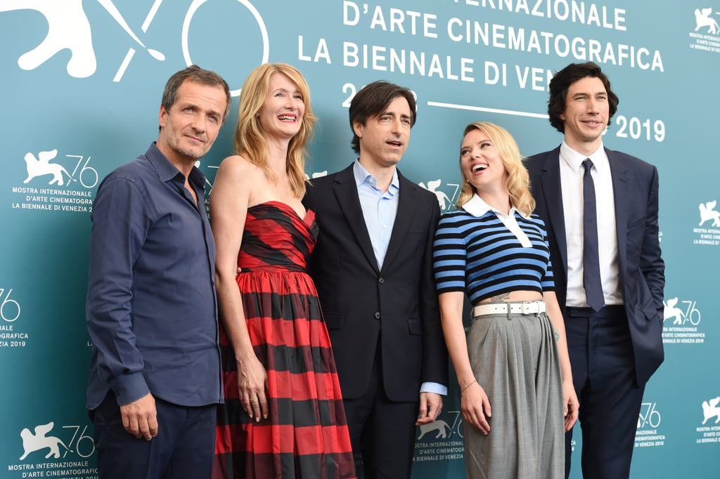 Scarlett Johansson, Laura Dern, Adam Driver, and the Producers of Marriage Story
