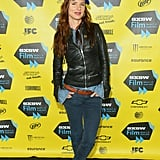 Juliette Lewis donned her leather jacket for the Hellion premiere on Sunday.