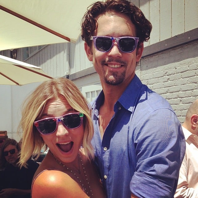 Kaley Cuoco and Ryan Sweeting wore matching sunglasses, obviously. Source: Instagram user normancook