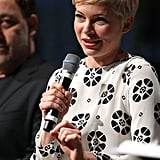 Michelle Williams took the microphone onstage at Comic-Con.