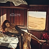 Amy Adams lounged in a trailer for a photo shoot for Allure.  Source: Norman Jean Roy/Allure