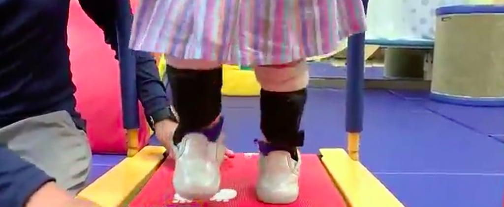 Girl With Spina Bifida Uses Baby Shark to Walk