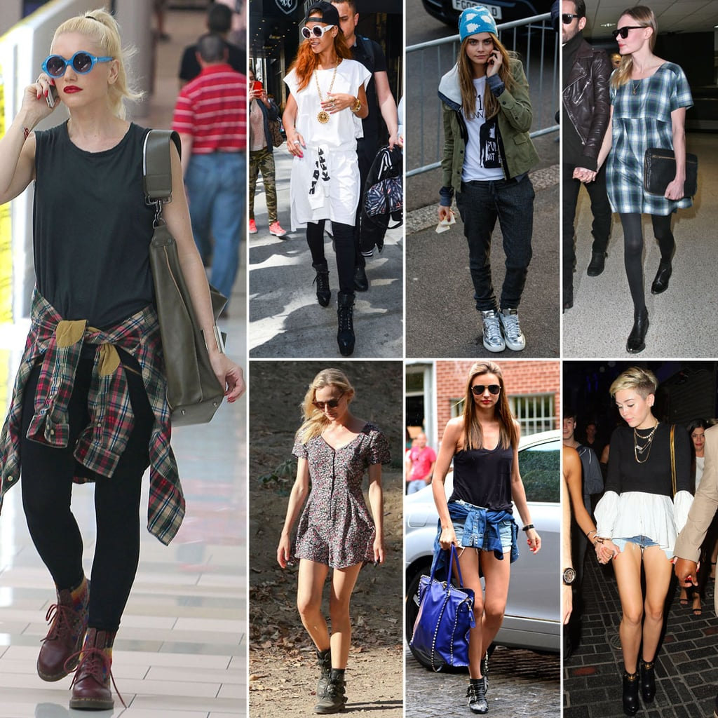 Celebrities wearing the 39 90s trend popsugar fashion Celeb style fashion uk